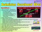 Badminton Scoreboard BS-01