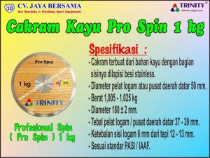 Cakram Kayu Pro Spin 1 kg