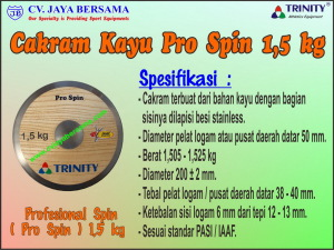 Cakram Kayu Pro Spin 1,5 kg