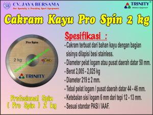 Cakram Kayu Pro Spin 2 kg