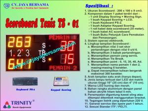Scoreboard Tenis TS-01